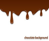 Chocolate background. Background with shiny streaks of chocolate cream on top Royalty Free Stock Photo