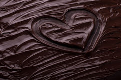 Chocolate background waves heart cooking  concept - melted choco. Chocolate background waves cooking  concept - melted chocolate as a background Royalty Free Stock Photo