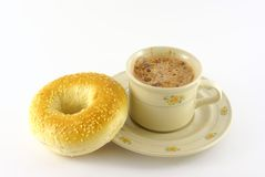 Chocolate and bagel 2 Royalty Free Stock Image