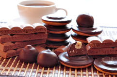 Chocolate, baking and coffee Stock Image