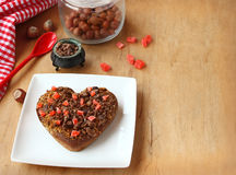 Chocolate heart to the romantic holiday Royalty Free Stock Photography