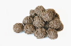 Chocolate ball. Many Chocolate ball in white background Royalty Free Stock Photo