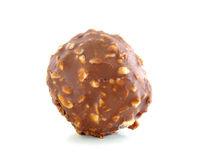 Chocolate ball with almond Stock Image