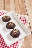 Chocolate Ball Cake Stock Image