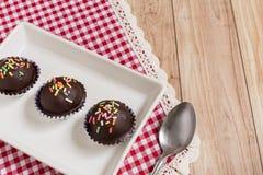 Chocolate Ball Cake Stock Photo
