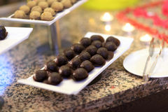 Chocolate ball cakes Royalty Free Stock Photos