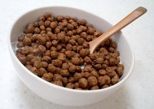 Chocolate ball cereal Stock Photos