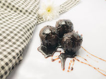 Chocolate ball. And Chocolate cream Royalty Free Stock Image