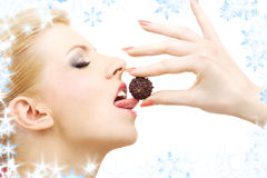 Chocolate ball delight Stock Photos