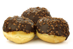 Chocolate ball donuts Royalty Free Stock Images