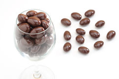 Chocolate ball in the glass Stock Photo