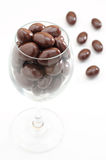 Chocolate ball in the glass Stock Images