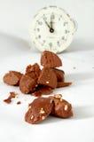Chocolate ball pieces Stock Photo