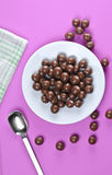 Chocolate ball`s Stock Images