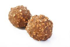 Chocolate ball on white background Stock Image