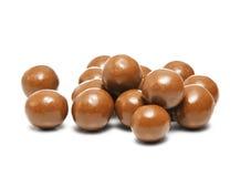 Chocolate Balls. Round Chocolate Balls Isolated on White Stock Images