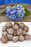 Chocolate balls royalty free stock image