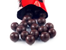 Chocolate balls. On white background Royalty Free Stock Images