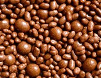 Chocolate balls background Stock Images