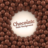 Chocolate balls background with place for your content Royalty Free Stock Photo