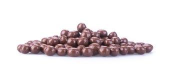 Chocolate balls. chocolate balls on a background Stock Photo
