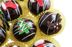 Chocolate balls Christmas Stock Photography