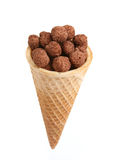 Chocolate balls in cone Stock Image