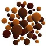 Chocolate balls. 3d chocolate volumetric sphere balls background royalty free illustration