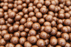 Chocolate balls stock photo