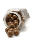 Chocolate balls from fallen container Stock Photography