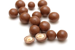 Chocolate balls with nuts Stock Photography