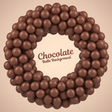 Chocolate balls round frame with place for your content Stock Photography