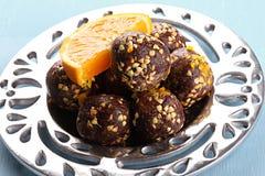 Chocolate balls Stock Images