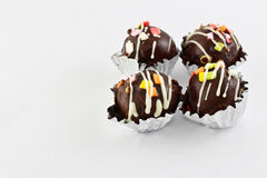 Chocolate  balls Royalty Free Stock Photos