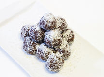 Chocolate balls  . Royalty Free Stock Images