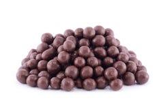 Chocolate balls on a white Stock Photo