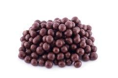 Chocolate balls on a white Royalty Free Stock Photos