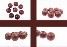 Chocolate balls Stock Images
