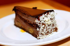 Chocolate banana cake Stock Photo
