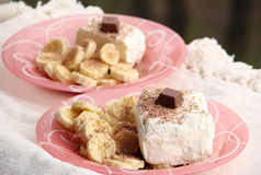 Chocolate and Banana Ice Cream Royalty Free Stock Image