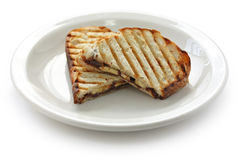 Chocolate banana panini Royalty Free Stock Image