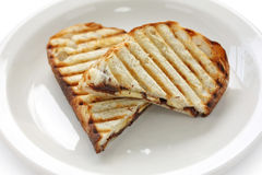 Chocolate banana panini Royalty Free Stock Photography