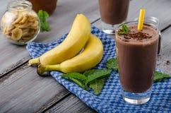 Chocolate-banana smoothie Stock Photography