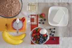 Ingredients for brownies Stock Image