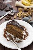 Chocolate banana and walnut cake Royalty Free Stock Image