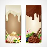 Chocolate banners vertical Stock Photo