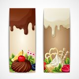 Chocolate banners vertical Stock Image