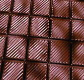 Chocolate bar. Large bar of dark and silky chocolate Royalty Free Stock Photo