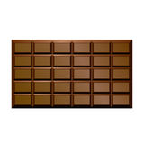 Chocolate bar. Brown Chocolate Bar. Food Illustration Stock Photo
