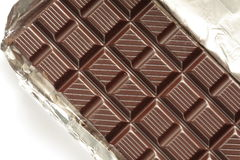 Chocolate bar. With white background Royalty Free Stock Photos